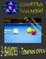 Open 3-bandes Billard Club Saint-Mihiel - 2e édition