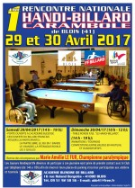 1ER WEEK END HANDI-BILLARD AVRIL 2017